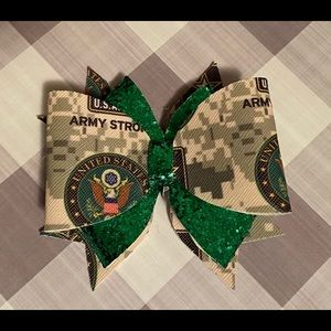 Army leather bow